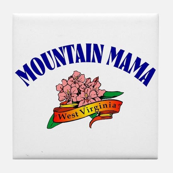 Mountain Mama Tile Coaster