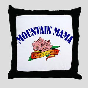 Mountain Mama Throw Pillow
