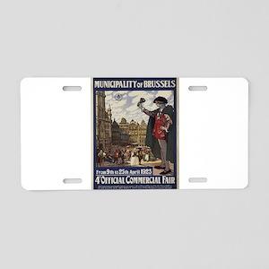 Vintage poster - Brussels Aluminum License Plate