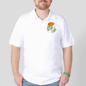 Golden Poppy Golf Shirt