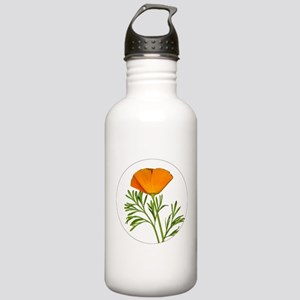 Golden Poppy Stainless Water Bottle 1.0L