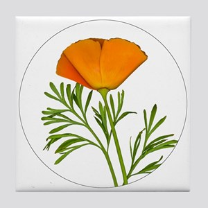 Golden Poppy Tile Coaster