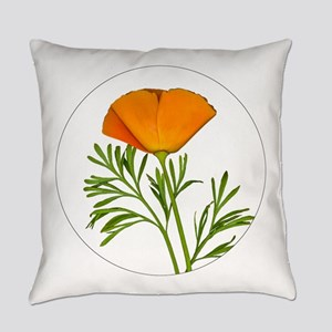 Golden Poppy Everyday Pillow