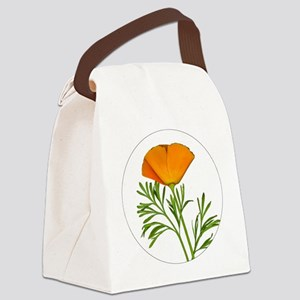 Golden Poppy Canvas Lunch Bag