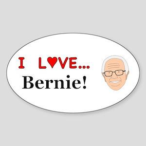 I Love Bernie Sticker (Oval)