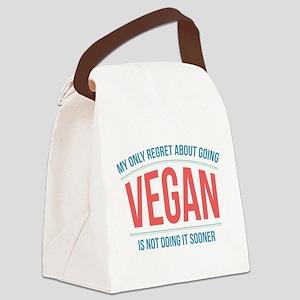 Vegan Regrets Canvas Lunch Bag