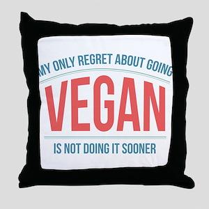 Vegan Regrets Throw Pillow