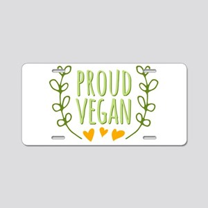 Proud Vegan Aluminum License Plate