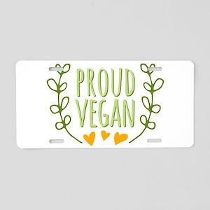 Proud Vegan Aluminum License Plate
