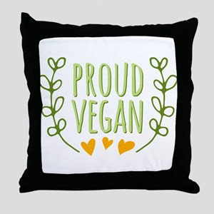 Proud Vegan Throw Pillow