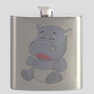 Baby Hippo Crying Flask