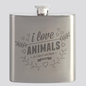 I Love Animals Flask