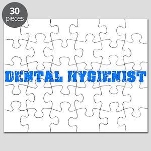 Dental Hygienist Blue Bold Design Puzzle
