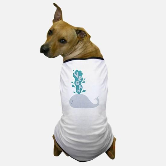 Blue Vegan Whale Dog T-Shirt