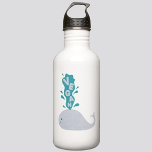 Blue Vegan Whale Water Bottle