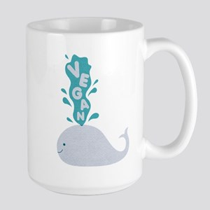 Blue Vegan Whale Mugs
