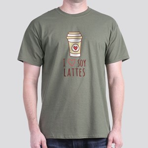 Brown I Heart Soy Lattes T-Shirt