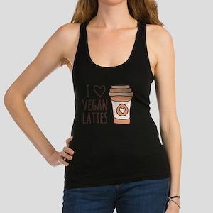 Brown I Heart Vegan Lattes Racerback Tank Top