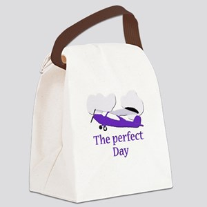flying airplane Canvas Lunch Bag