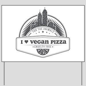 I Heart Vegan Pizza Yard Sign