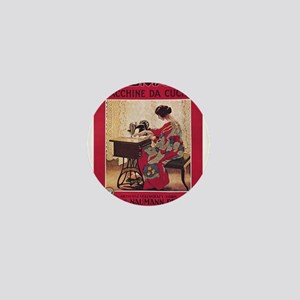 Vintage poster - Naumann Sewing Machin Mini Button