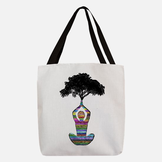 POISE FOR HARMONY Polyester Tote Bag