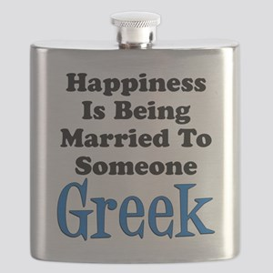 Happiness Married To Someone Greek Flask