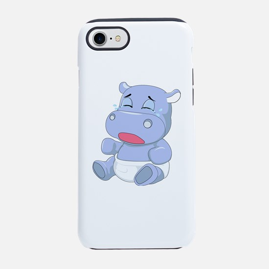 Baby Hippo Crying iPhone 8/7 Tough Case