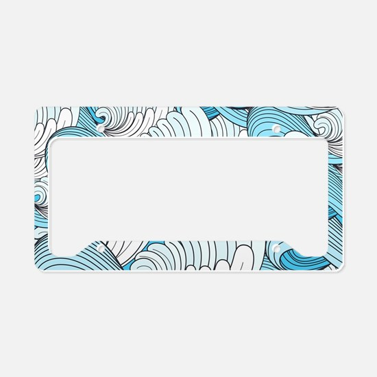 Ocean Waves License Plate Holder