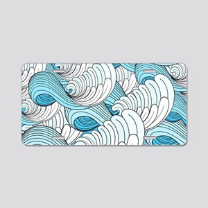 Ocean Waves Aluminum License Plate