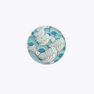 Ocean Waves Mini Button