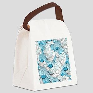 Ocean Waves Canvas Lunch Bag