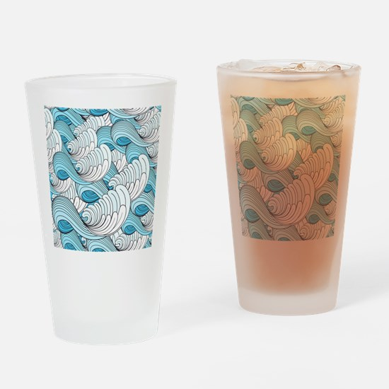 Ocean Waves Drinking Glass