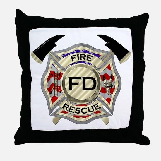 Cute Fire department Throw Pillow