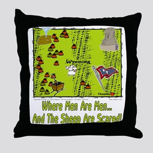 WY-Men And Sheep! Throw Pillow