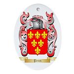 Penn Oval Ornament