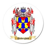 Penderghest Round Car Magnet