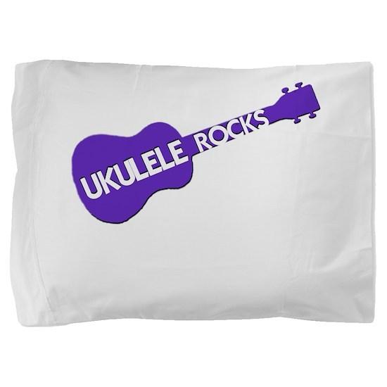 Ukulele Rocks Pillow Sham