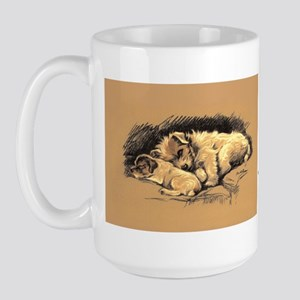 Home dog Large Mug