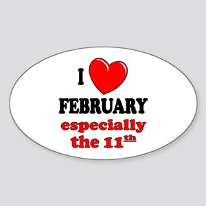 February 11th Oval Sticker