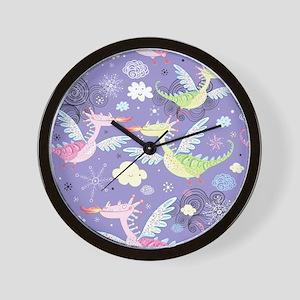 Cute Dragons Wall Clock