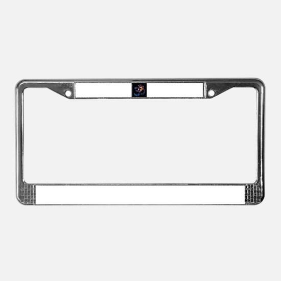 Om-Flower-043 License Plate Frame