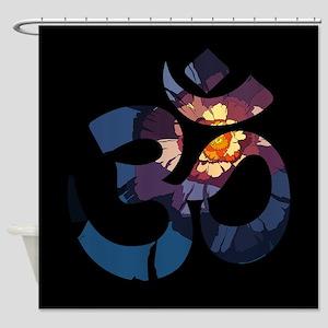 Om-Flower-043 Shower Curtain