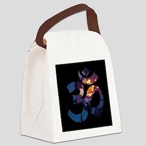 Om-Flower-043 Canvas Lunch Bag