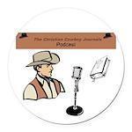 Ccj Podcast Round Car Magnet