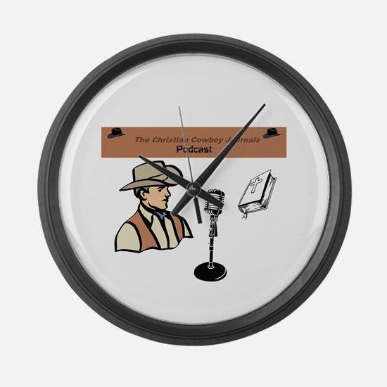 CCJ Podcast Large Wall Clock