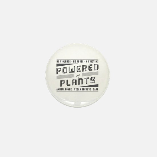 No Violence Powered by Plants Mini Button