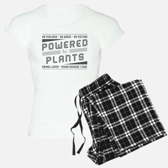 No Violence Powered by Plants Pajamas