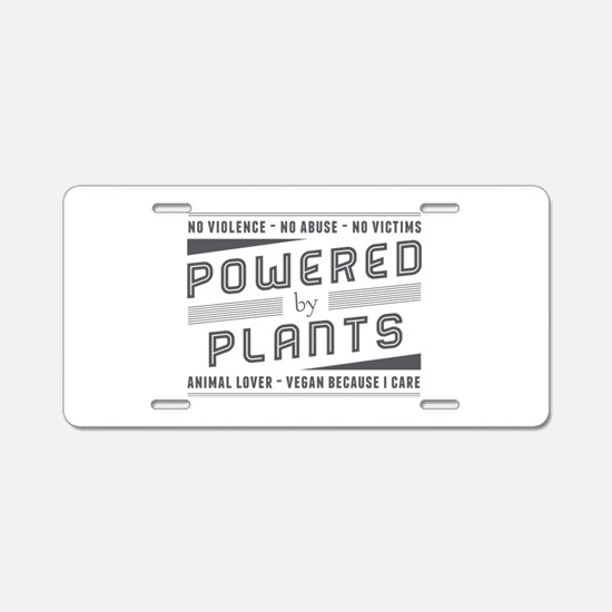 No Violence Powered by Plants Aluminum License Pla