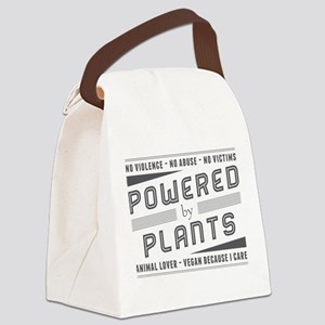 No Violence Powered by Plants Canvas Lunch Bag